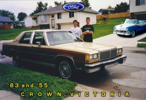 My old Crown Vic (yeah, that's me in high school)