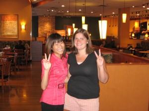 My old friend Darla and my new friend Pamela