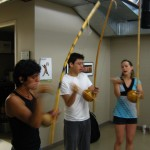The berimbau players.