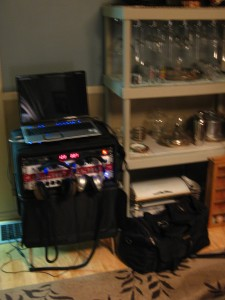 The rig set up in Seth and Laura's house.