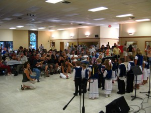 Serbs listening to Serbian childs singing Serbian songs in Serbian at Serb Fest!