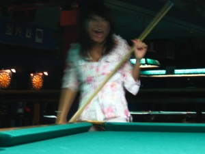 Rumiko the Pool Shark.