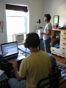 Recording Taylor.