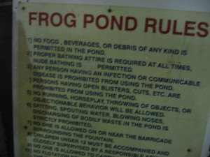 These rules were handed down through generations of ruling frogs.