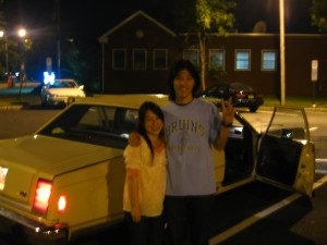 Kae and JH with the Lovemobile.
