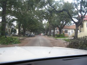 Most of the neighborhoods I drove through looked like this.