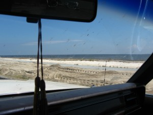 Along the gulf coast towards Gulfport.