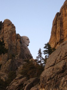 In South Dakota, George Washington leads a rocky existence.
