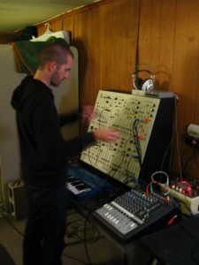 David working the analog synth.  And probably also his mojo.