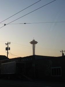 The infamous SPACE needle.