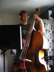 Yes, friends, that is a 5-string upright bass.